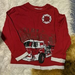 🚒Boys long sleeve fire truck t-shirt🚒